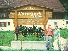 Allgäuer Echtholz Ortsschild Unterjoch inkl. Pflanzkasten