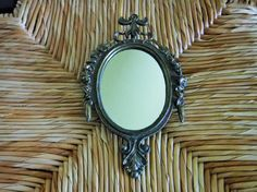 Victorian Metal Mirrored Frame, Victorian Mirror, Small Mirror Frame, Ornate Metal Frame with Mirror, Vintage Ornate Frame, Made in Italy by BeautyMeetsTheEye on Etsy
