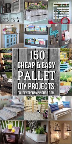 150 Cheap & Easy Pallet Projects - 150 Cheap & Easy Pallet Projects Transform free pallets into creative DIY furniture, home decor, planters and more! There are over 150 easy pallet ideas here to give your home and garden a personal touch. Wooden Pallet Projects, Diy Pallet Furniture, Diy Furniture Projects, Woodworking Projects Diy, Furniture Legs, Barbie Furniture, Furniture Design, Pallet Home Decor, Garden Projects