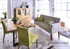 Tischsofa wien  -  Stoff 40/271 05+15 Dining Bench, Cottage, Furniture, Home Decor, Dining Room Modern, Living Dining Rooms, Armchair, Living Room, House