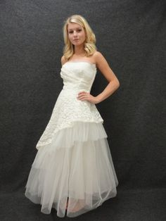 Wedding Dress // 50s Wedding Dress // by RobinandWrenVintage, $395.00