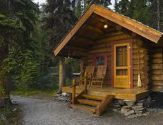 Heater and air conditioner solutions for cabins and tents. How To Build A Log Cabin, Small Log Cabin, Building A Cabin, Metal Building Homes, Log Cabin Homes, Prefab Log Cabins, Small Cabins, Prefab Guest House, Cabin Design