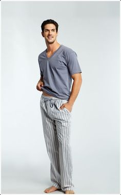 You can even wear a v neck shirt with some sweat pants to sleep as well!