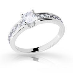 snowwhite engagement ring with a round brilliant diamond (fashion design: Danfil Diamonds) Brilliant Diamond, Her Smile, Love Her, Engagement Rings, Unique, Fashion Design, Jewelry, Diamond, Enagement Rings