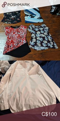 Shop Women's size Various Tops at a discounted price at Poshmark. Business Casual Outfits, Plus Fashion, Fashion Tips, Fashion Trends, Casual Clothes, Dress Shirts, Best Deals, Closet, Collection