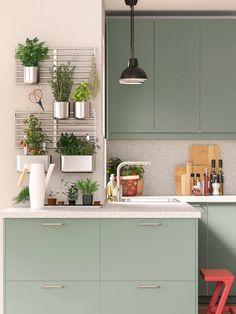 Wall Racks, Wall Storage, Kitchen Storage, Ikea Metod Kitchen, Kitchen Worktop, Kitchen Appliances, Ikea Duktig, Design Ideas, Cabinets