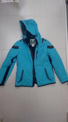 dámskou modro černo hnědou lyžařskou bundu velikosti 38 - - obrázek číslo 1 593c244fffd