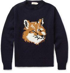 Maison KitsunéFox Knitted-Wool Sweater