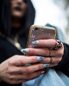 Nail inspo at the Riccardo Tisci x Nike event in Rome. #theyarewearing #wwdbeauty (: @kukukuba)  via WOMEN'S WEAR DAILY MAGAZINE OFFICIAL INSTAGRAM - Celebrity  Fashion  Haute Couture  Advertising  Culture  Beauty  Editorial Photography  Magazine Covers  Supermodels  Runway Models