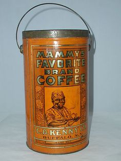 C D KENNY MAMMY'S 4LB COFFEE VINTAGE ADVERTISING TIN