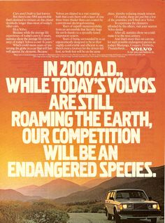 1985 Volvo 240: In 2000 A.D., While Today's Volvos are Still Roaming the Earth