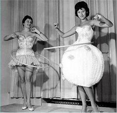 Hula Hoop - I never hula hooped in a dress