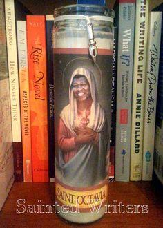 Saint Octavia E. Butler Writer's Prayer Candle by SaintedWriters