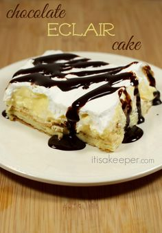 Chocolate Eclair Cake - It's a Keeper
