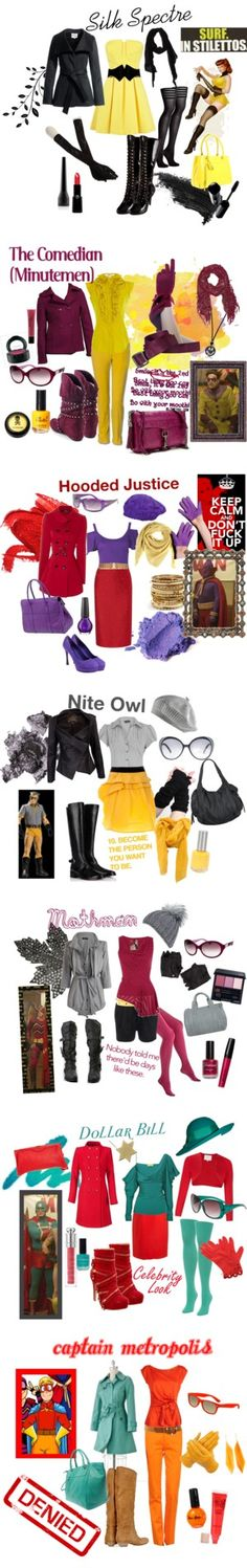 Minutemen (Characters from Watchmen) by ellia on Polyvore featuring Stila, Alaïa, Nina Ricci, Somarta, Pleaser, Wolford, Reiss, Kate Spade, Victoria's Secret and Shiseido