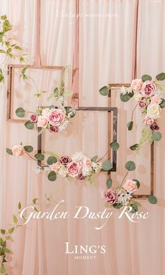 Dusty Rose Fall Wedding - Real touch rose for wedding and pa.- Dusty Rose Fall Wedding – Real touch rose for wedding and party! 36 colors Off Dusty Rose Fall Wedding – Real touch rose for wedding and party! 36 colors Off - wedding backdrops Decoration Evenementielle, Terrarium Wedding, Foam Roses, Bridal Shower Decorations, Bridal Shower Backdrop, Flower Decorations, Backdrop Wedding, Wedding Wall Decorations, Decorations For Home
