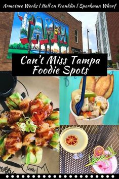 For a delicious place to eat in Tampa, check out these three food halls! Each one has a variety of cuisines and fun events #tampa #florida #foodie Florida Food, Florida Travel, Tampa Florida, Florida Vacation, Central Florida, Tampa Restaurants, Unique Restaurants, Breakfast Cafe, Brunch Places