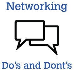Networking Do's & Dont's: #Careers Advice, Creative Skillset