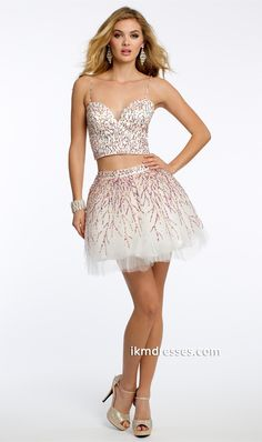 http://www.ikmdresses.com/Sequin-Two-Piece-Dress-with-Lace-Up-Back-p87368
