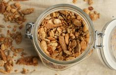 Grandma's Toasted Coconut Granola - No grains or gluten, just seeds, nuts and spices make this a perfect holiday treat.