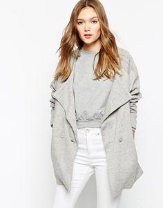#coat #grey #mod #stylish #fashion #streetstyle #normcore #white #basic #asos #outfit