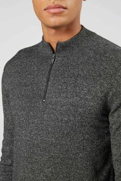 70f4e3f9e Buy Charcoal Zip Neck from the Next UK online shop Estilo Casual Para  Homens