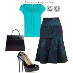"""Printed Skirt"" by lisa-eurica on Polyvore"