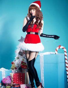 Christmas New Arrive Lace-up Slim Party Dress _Christmas Outfit_Christmas Costumes_Wholesalekingdom.net