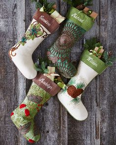 Woodland Christmas Stockings #HorchowHoliday14
