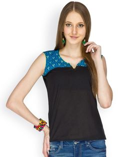 100% COTTON SLEEVELESS BLACK BODY WITH BLUE PRINTED YOKE DETALING TOP - See more at: http://www.namakh.com/FUSION-TOP/BLACK-PRINTED-TOP-id-1172189.html#sthash.x2nxHvqy.dpuf