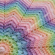 Simple, fantastically easy, lovely #crochet #blanket for #baby