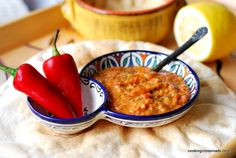 Skhug Red, Yemeni Red Hot Sauce. Red Sauces