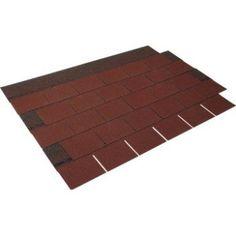 Bardeau imitation ardoise bitumée rouge IKO Easy shingle l.0.336 x L.0.78 m | Leroy Merlin