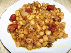 Nut Recipes, Chickpea Recipes, Bean Recipes, Cooking Recipes, Healthy Recipes, Spanish Dishes, Tasty, Yummy Food, Grain Foods