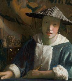 Girl with a Flute-Vermeer, Johannes -1675