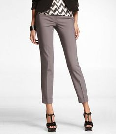 ULTIMATE DOUBLE WEAVE EDITOR ANKLE PANT at Express