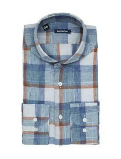 Brown_Washed_Shirt_Single_Cuff_H4705 Winter Shirts, Stylish Shirts, Tartan Pattern, Mens Fall, Men Shirt, Weaving Patterns, Check Shirt, Fashion Books, Death