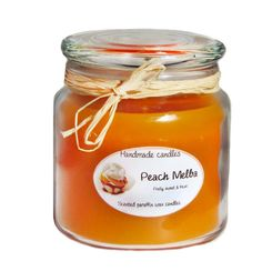 #Gift: #Scented #paraffin #candle with a ligth orange color with a #fruity #crisp medium strong scent.  650 ml - $15.99
