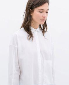 Image 2 of OVERSIZED POPLIN SHIRT from Zara