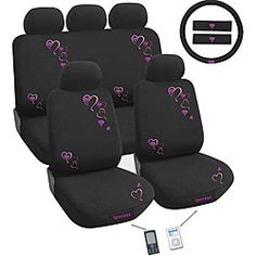 @Overstock - Customize your car with a 12-piece 'hearts' automotive seat cover set Car seat covers are made from breathable polyester and cotton-blend material Automotive accessories feature 3 mm of comfortable paddinghttp://www.overstock.com/Home-Garden/Hearts-12-piece-Automotive-Seat-Cover-Set/3723827/product.html?CID=214117 $74.99