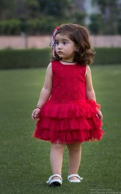Beautiful Embroided Red Rose dress with flares from KIDSDEW, perfect party wear on every occassion is on limited period sale Baby Frocks Party Wear, Kids Party Wear Dresses, Baby Girl Frocks, Kids Dress Wear, Baby Girl Party Dresses, Kids Gown, Frocks For Girls, Little Girl Dresses, Kids Wear