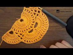 ( Yeni) virus şal yapımı sayılı net çekim anlatım / binbirgece şal yapım modeli - YouTube Crochet Lace Scarf, Crochet Bikini Pattern, Freeform Crochet, Thread Crochet, Baby Blanket Crochet, Crochet Stitches Patterns, Stitch Patterns, Crochet Crowd, Knitting Designs