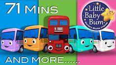 Ten Little Buses   Plus Lots More Nursery Rhymes   From LittleBabyBum! - YouTube
