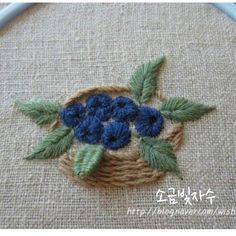 wonderful basket, small flowers and leaves including one woven leaf Hand Embroidery Projects, Wool Embroidery, Creative Embroidery, Hand Embroidery Stitches, Silk Ribbon Embroidery, Embroidery Techniques, Cross Stitch Embroidery, Embroidery Designs, Crazy Quilt Stitches