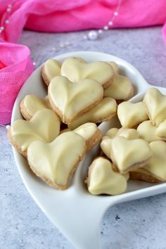 Fahéjas, fehér csokoládés szív recept
