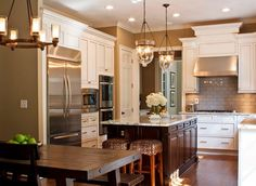 RUSTIC CONTEMPORARY KITCHEN   Kitchen: Ideas Contemporary Functional Kitchen Bar Designs With Rustic ...