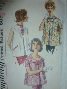 Miss Size 12 Maternity Vintage 1970s Retro Sewing Pattern Lot Of 7