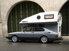 Saab 900 with Toppola Camper shell by Auto Clasico, via Flickr