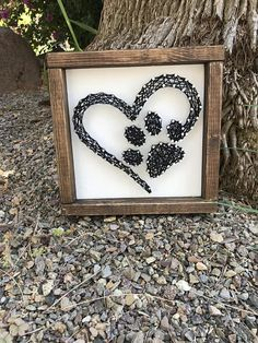 I love my dog Wall Decor - Paw Print String Art - Gift for Dog Lovers - Dog Wall Art - Animal Paw Print - Love My Cat - Cat Lovers Gift