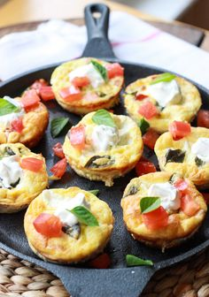 Baked Caprese Breakfast Cups with Flaky Crust